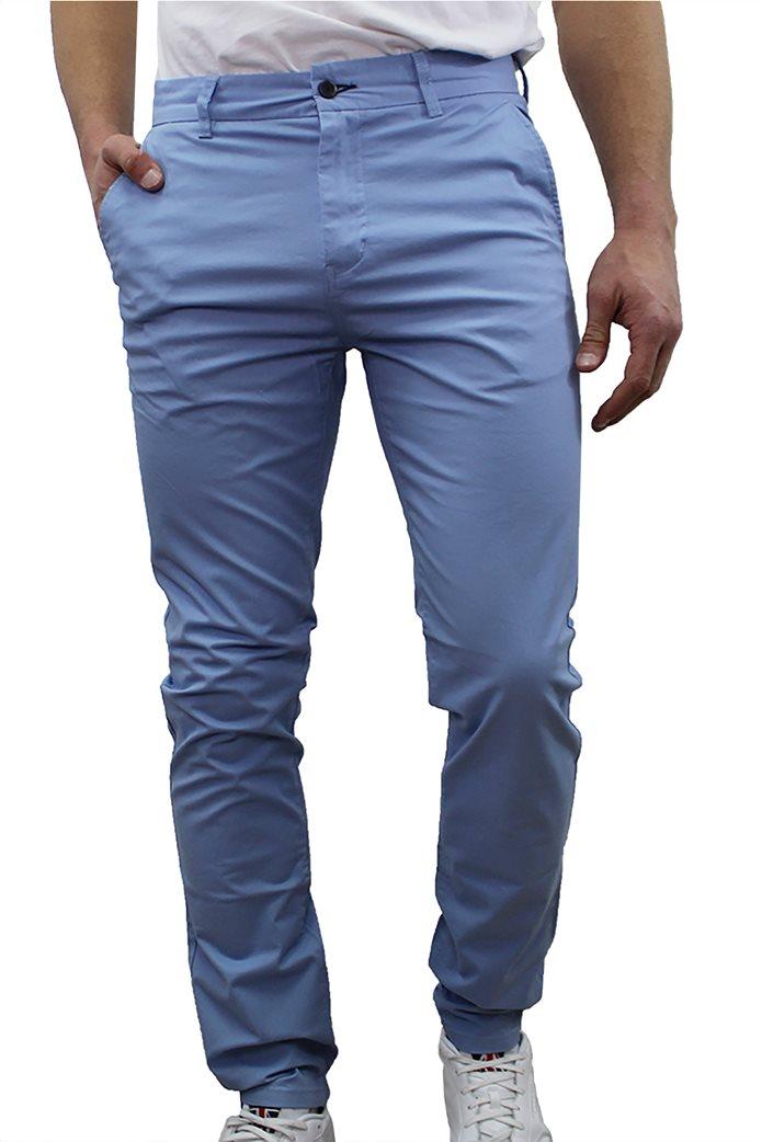 DORS ανδρικό chino παντελόνι μονόχρωμο με κεντημένο λογότυπο 0