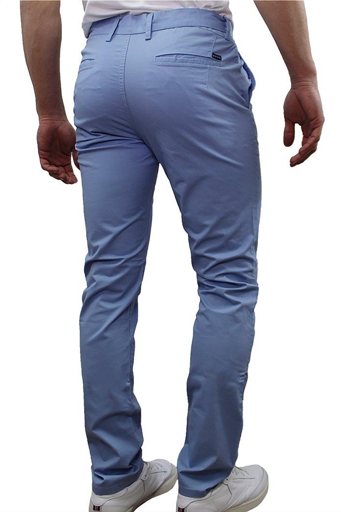 DORS ανδρικό chino παντελόνι μονόχρωμο με κεντημένο λογότυπο 1