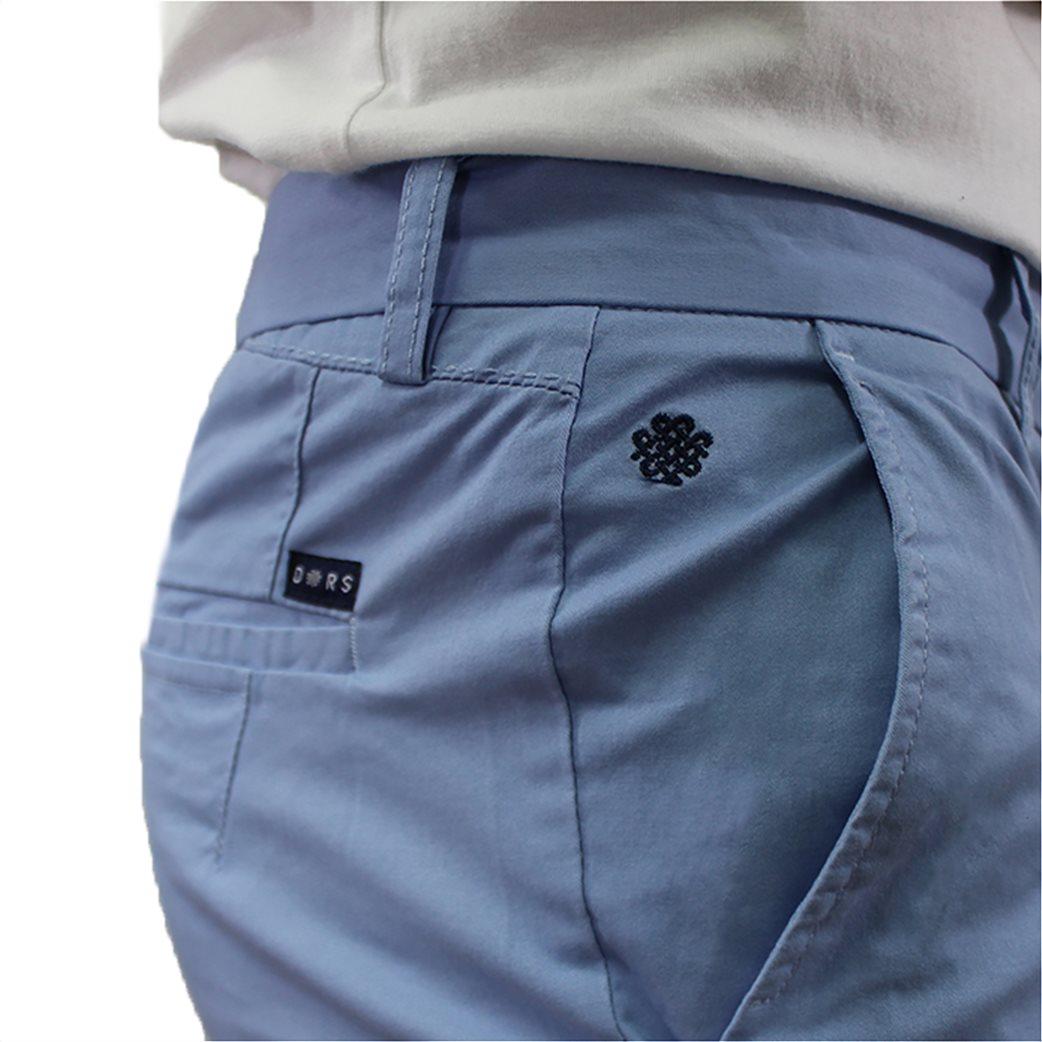 DORS ανδρικό chino παντελόνι μονόχρωμο με κεντημένο λογότυπο 2