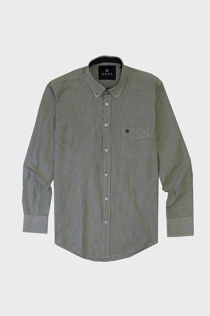 DORS ανδρικό πουκάμισο με καρό μικροσχέδιο και τσέπη 0