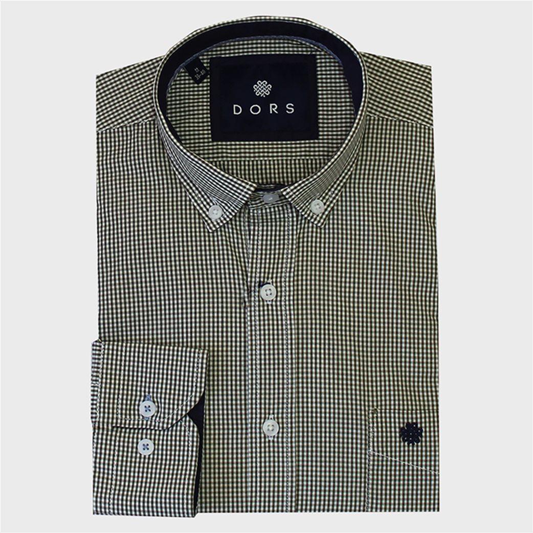 DORS ανδρικό πουκάμισο με καρό μικροσχέδιο και τσέπη 1