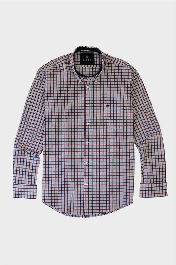 DORS ανδρικό πουκάμισο με μεγάλο καρό print 0