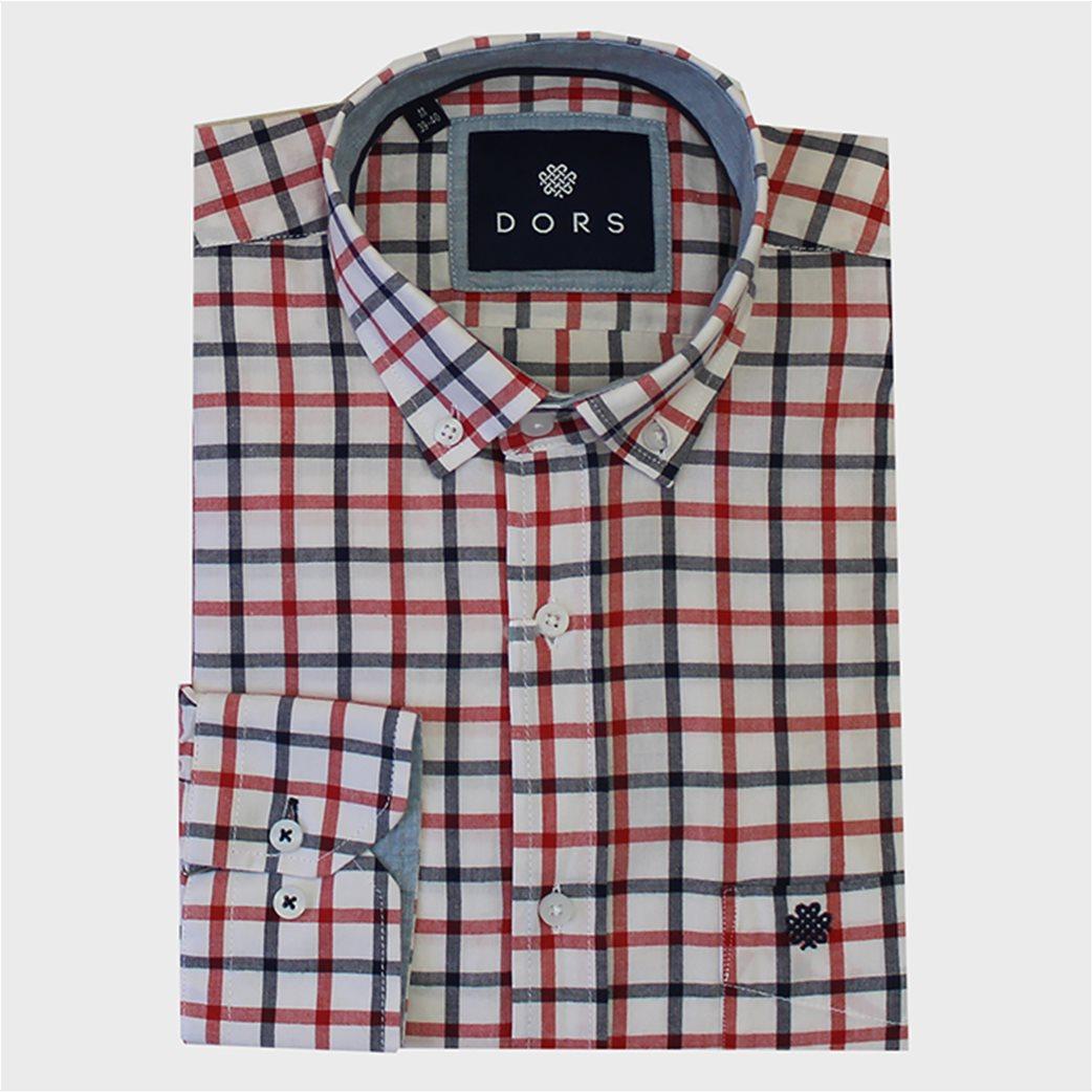 DORS ανδρικό πουκάμισο με μεγάλο καρό print 1