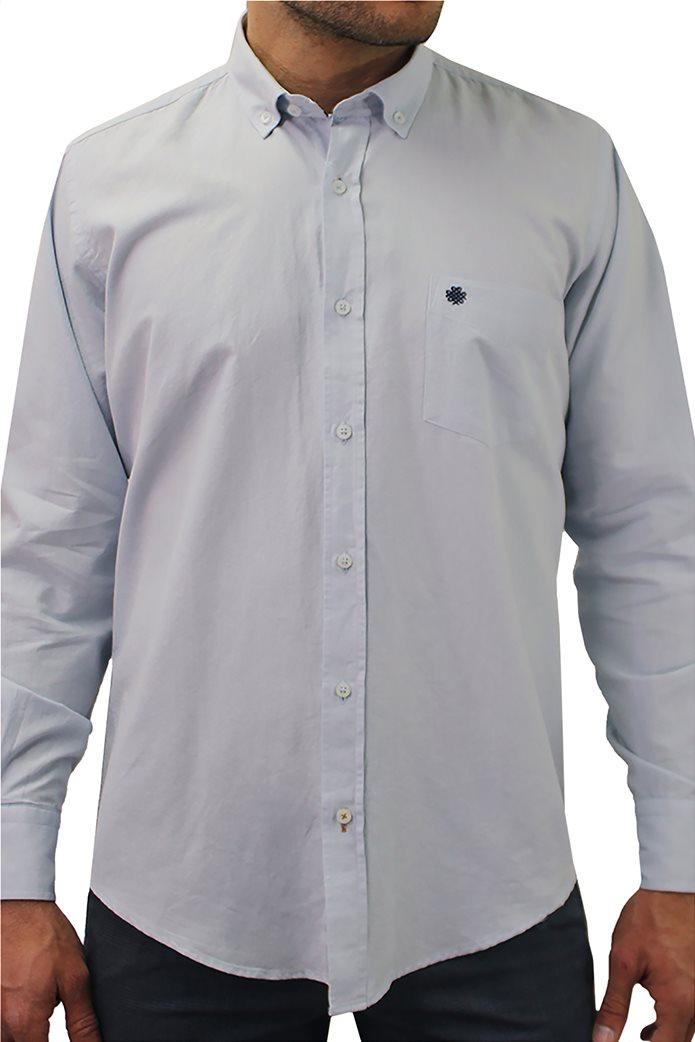 """DORS ανδρικό πουκάμισο μονόχρωμο """"Oxford"""" 0"""