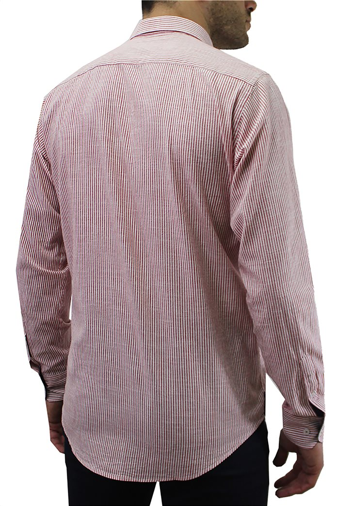 DORS ανδρικό βαμβακερό πουκάμισο ριγέ 1