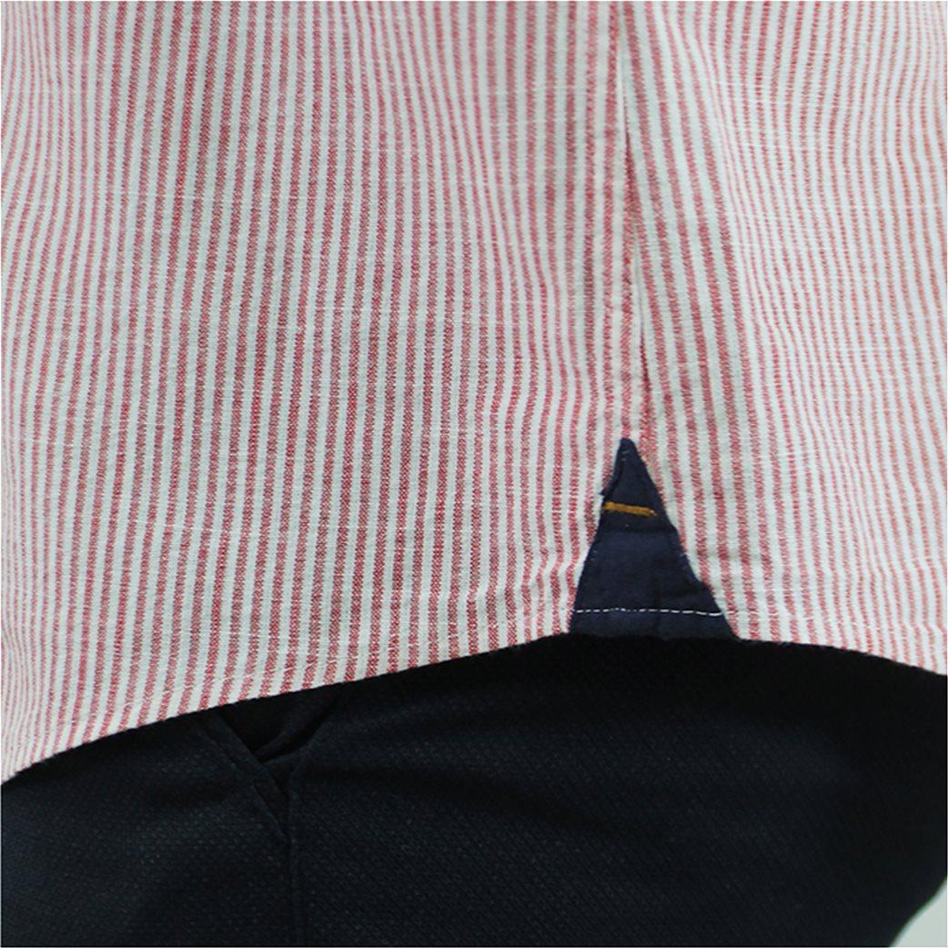 DORS ανδρικό βαμβακερό πουκάμισο ριγέ 2