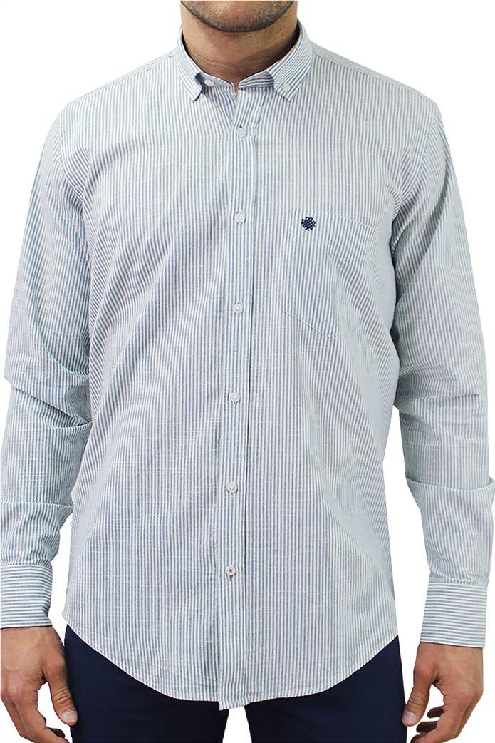 DORS ανδρικό βαμβακερό πουκάμισο ριγέ 0