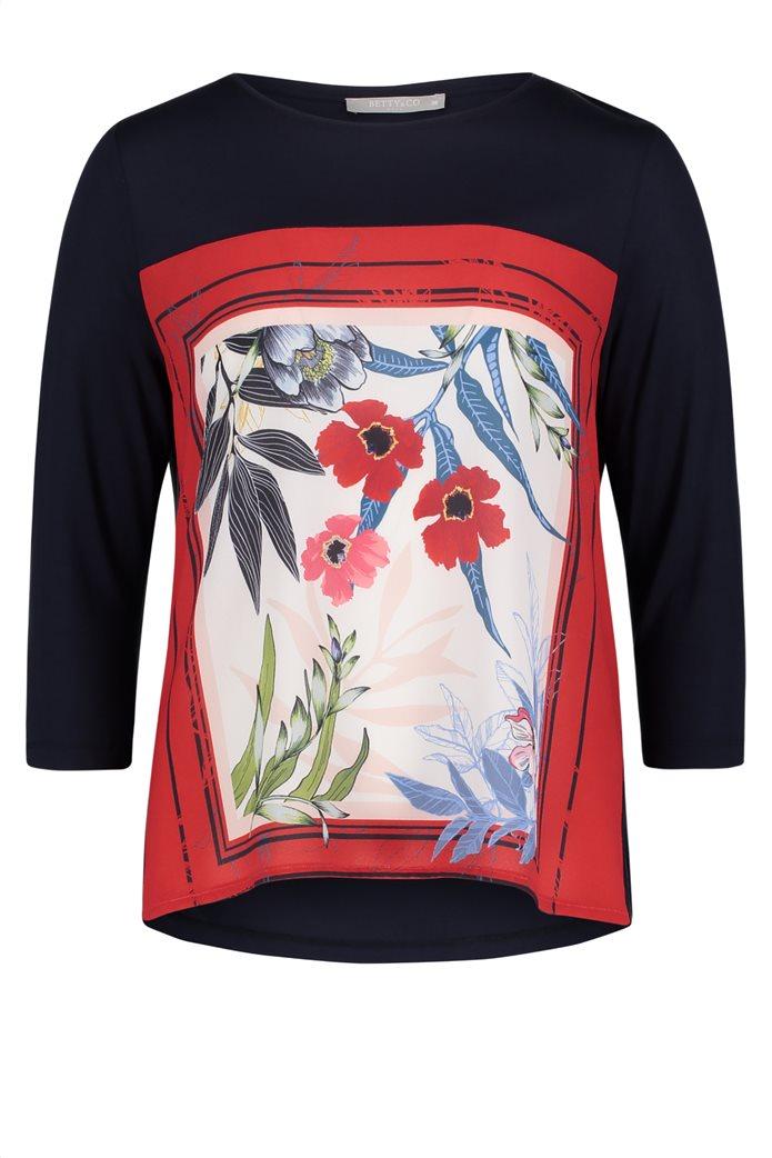 BΕΤΤΥ & CO Γυναικεία μπλούζα με έντονο φλοράλ print 3