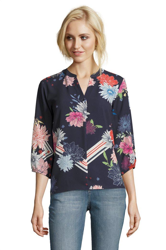 BΕΤΤΥ & CO Γυναικεία μπλούζα με άνοιγμα και έντονο φλοράλ print 0