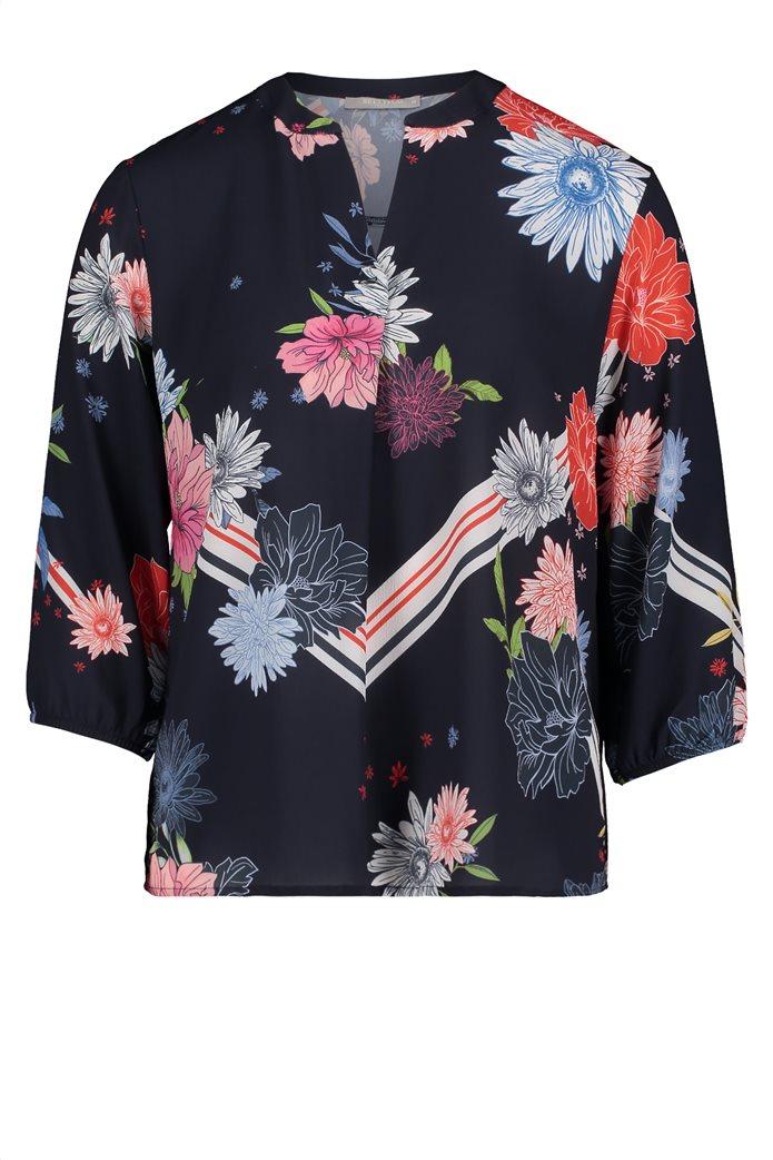 BΕΤΤΥ & CO Γυναικεία μπλούζα με άνοιγμα και έντονο φλοράλ print 3