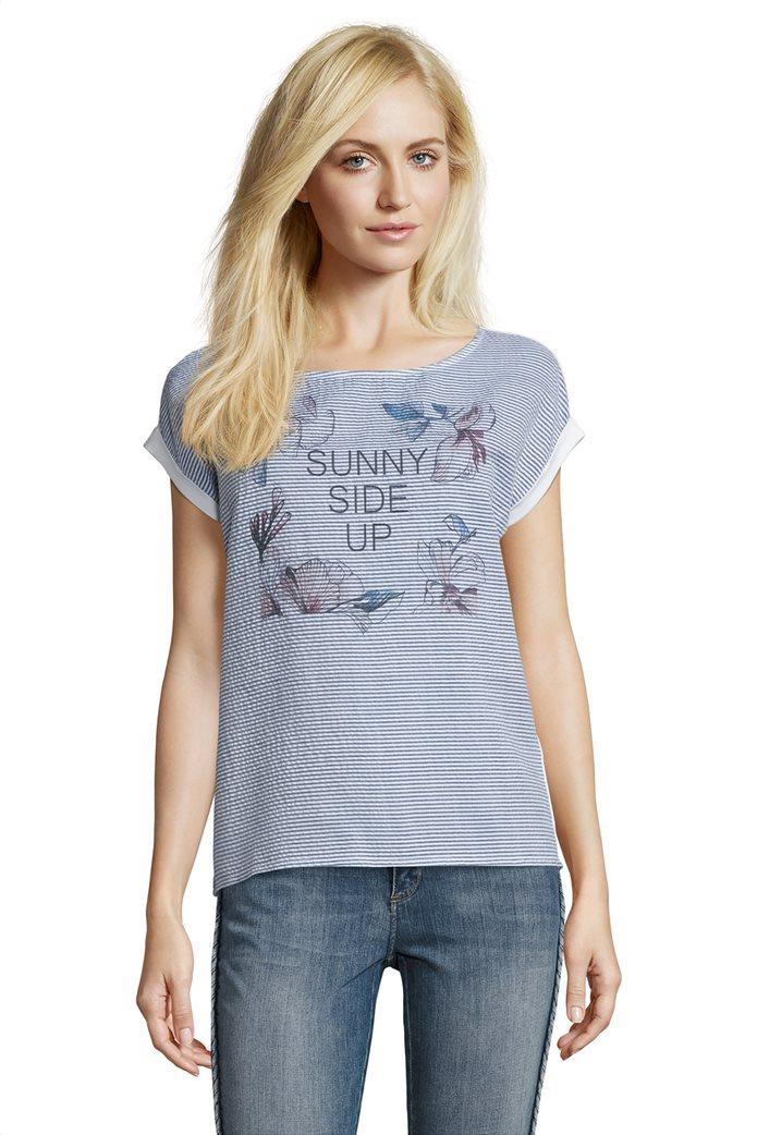 BΕΤΤΥ & CO Γυναικεία μπλούζα κοντομάνικη με μικρό φλοράλ print 0