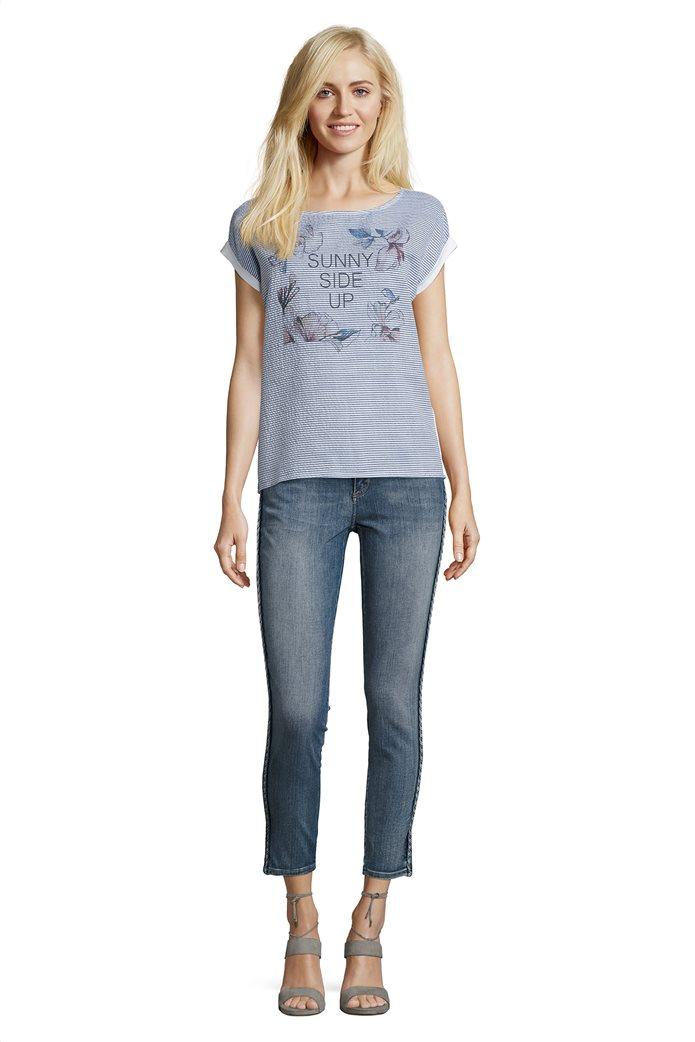 BΕΤΤΥ & CO Γυναικεία μπλούζα κοντομάνικη με μικρό φλοράλ print 2