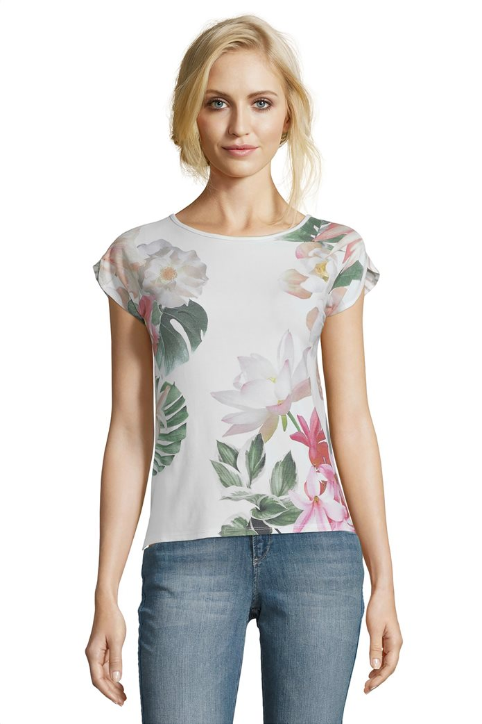 BΕΤΤΥ & CO Γυναικεία μπλούζα κοντομάνικη με all over φλοράλ print 0