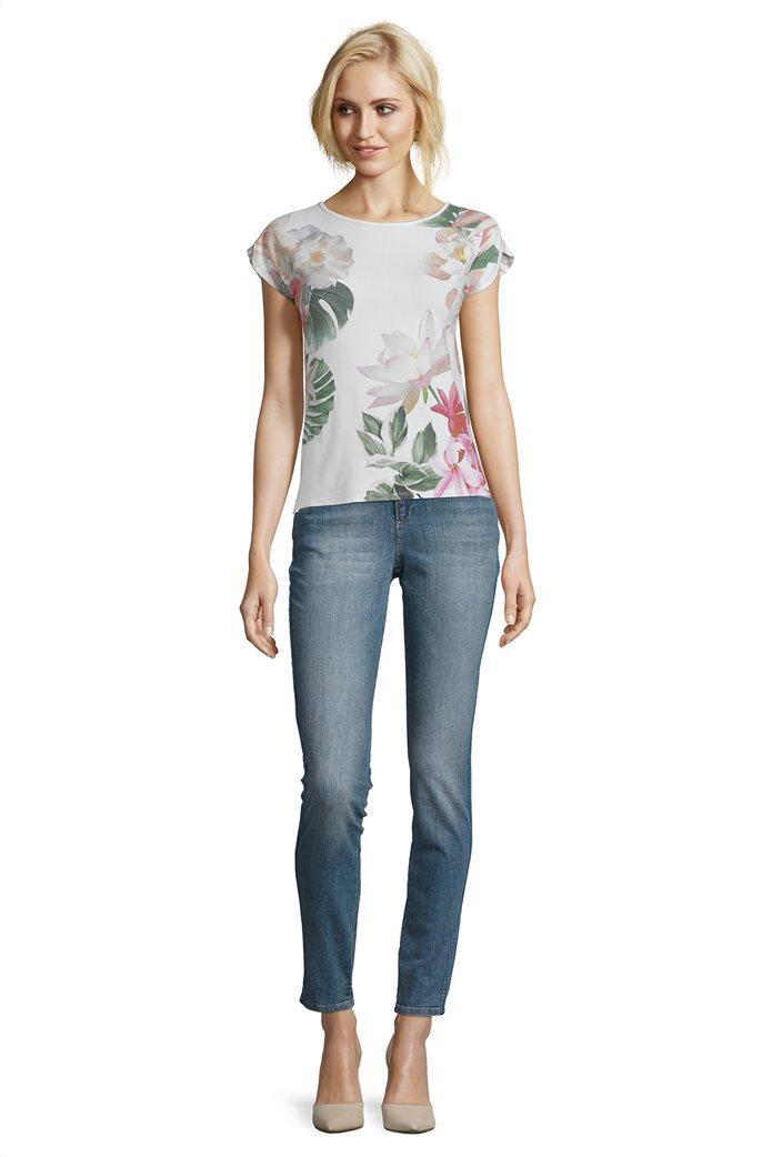 BΕΤΤΥ & CO Γυναικεία μπλούζα κοντομάνικη με all over φλοράλ print 2