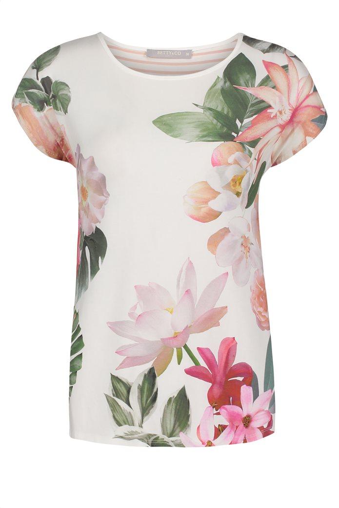 BΕΤΤΥ & CO Γυναικεία μπλούζα κοντομάνικη με all over φλοράλ print 3