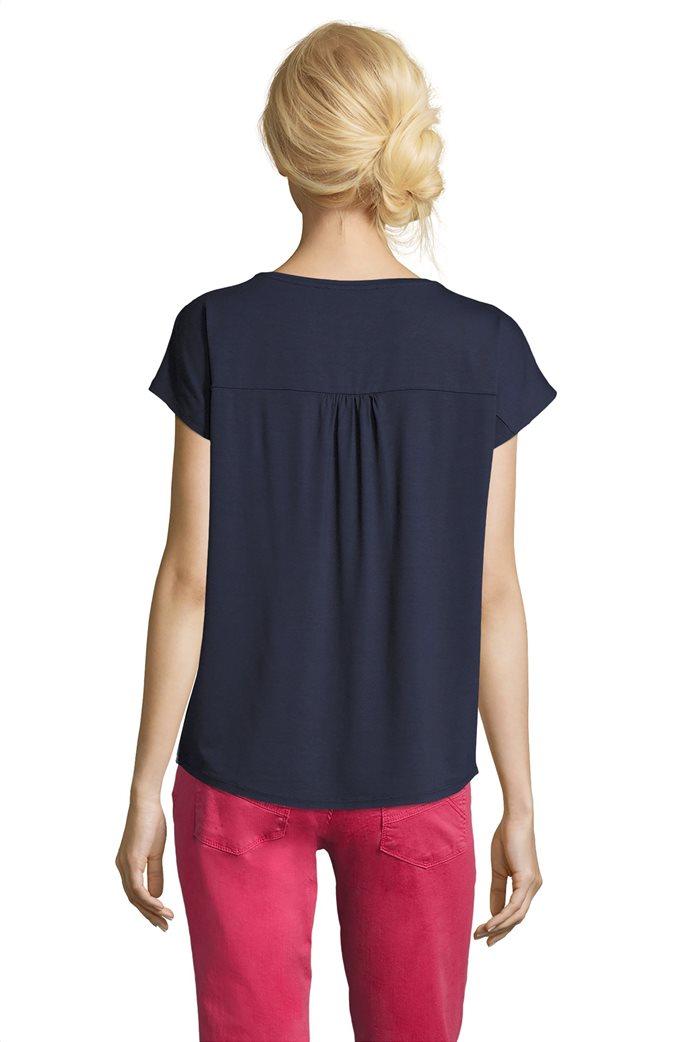 BΕΤΤΥ & CO Γυναικεία μπλούζα κοντομάνικη με φλοράλ print και κάθετες ρίγες 1