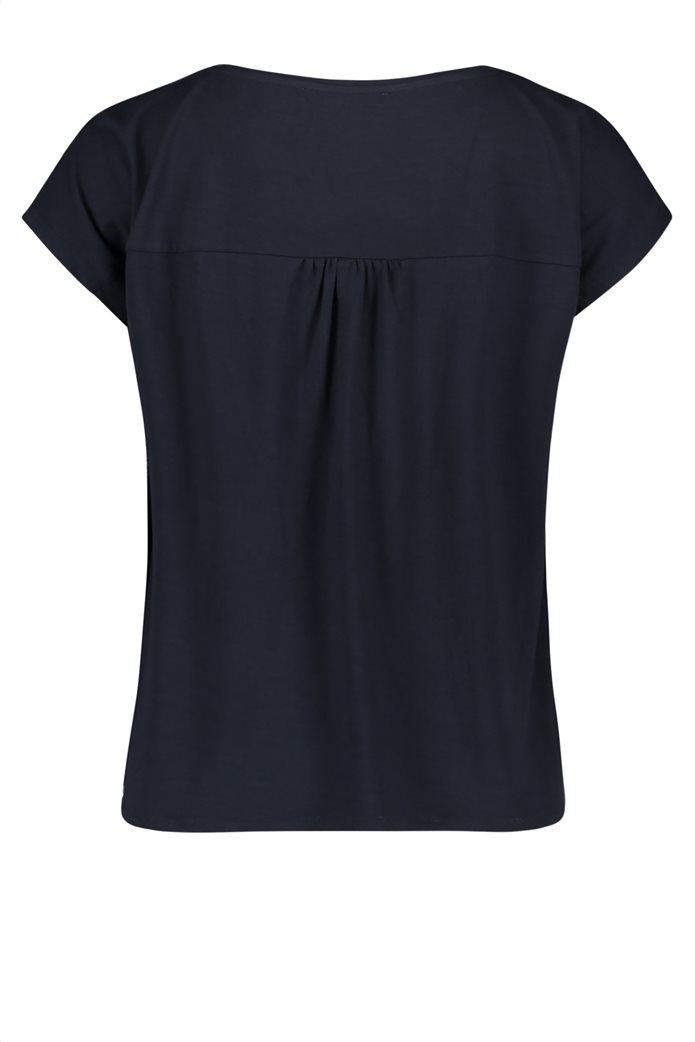 BΕΤΤΥ & CO Γυναικεία μπλούζα κοντομάνικη με φλοράλ print και κάθετες ρίγες 4