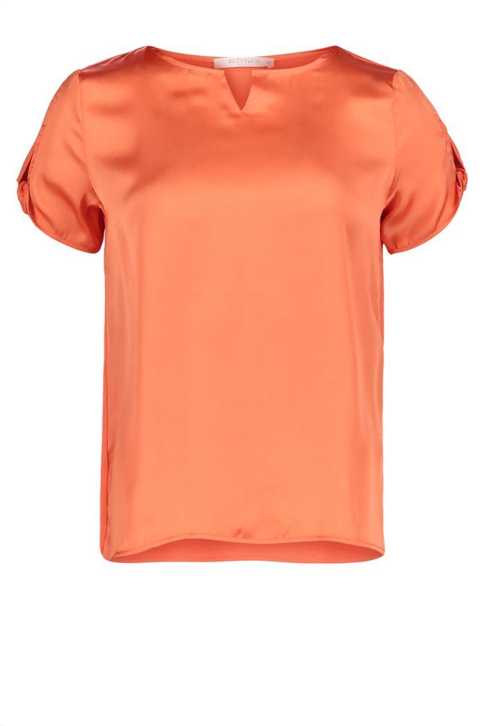 BΕΤΤΥ & CO Γυναικεία μπλούζα κοντομάνικη μονόχρωμη 3