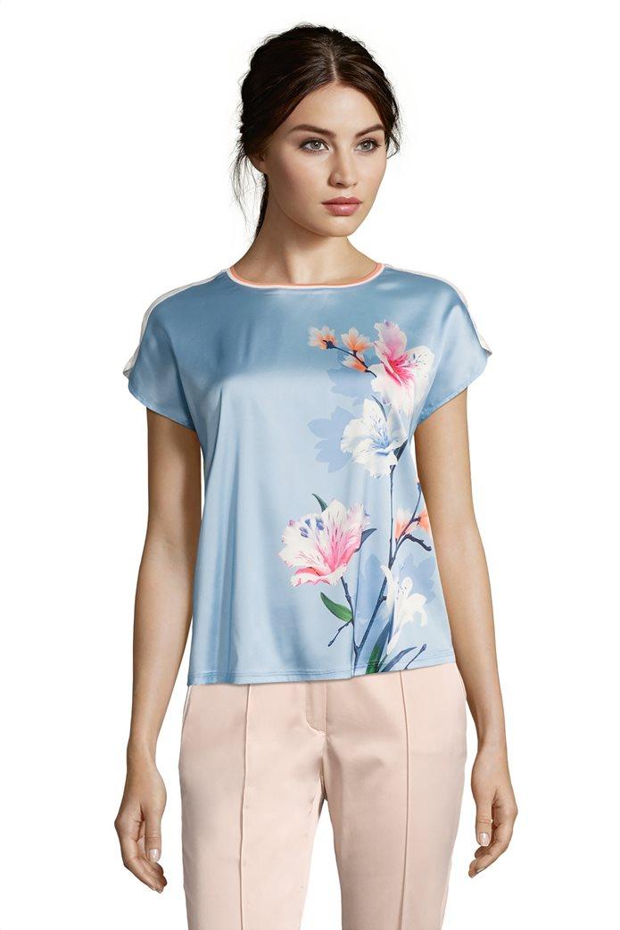 BΕΤΤΥ & CO Γυναικεία μπλούζα κοντομάνικη με μεγάλο φλόραλ print 0