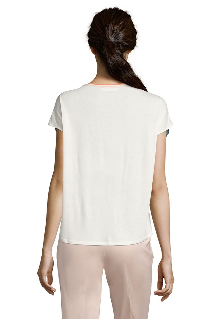 BΕΤΤΥ & CO Γυναικεία μπλούζα κοντομάνικη με μεγάλο φλόραλ print 1