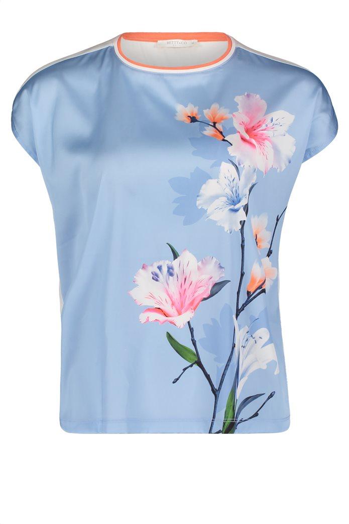 BΕΤΤΥ & CO Γυναικεία μπλούζα κοντομάνικη με μεγάλο φλόραλ print 3