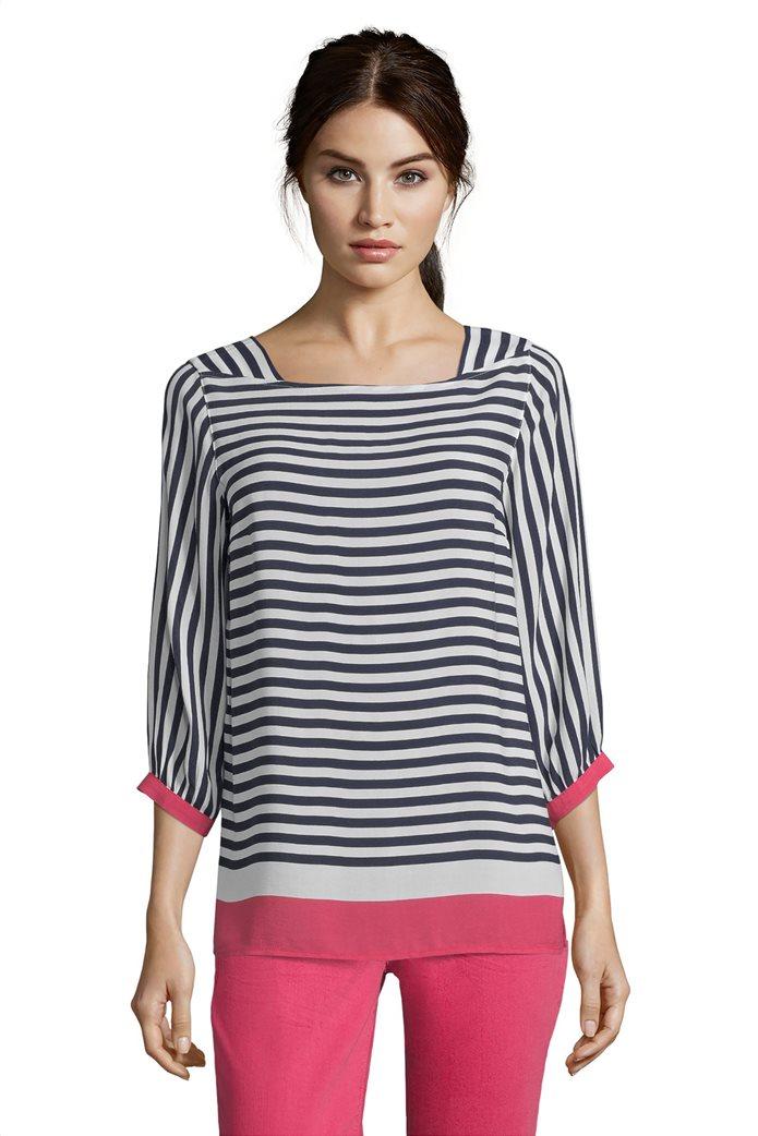 BΕΤΤΥ & CO Γυναικεία μπλούζα ριγέμε colorblock 0