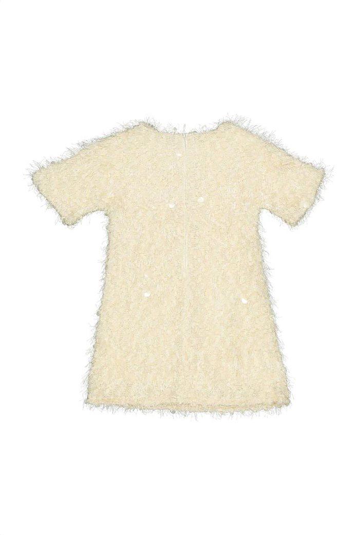Grant TryBeyond παιδικό φόρεμα μονόχρωμο με κρόσσια και παγιέτες Λευκό 1