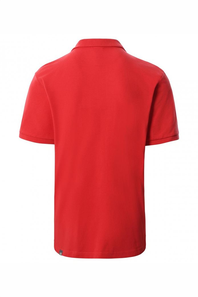 The North Face ανδρική πόλο μπλούζα μονόχρωμη με κεντημένο λογότυπο στο στήθος 1