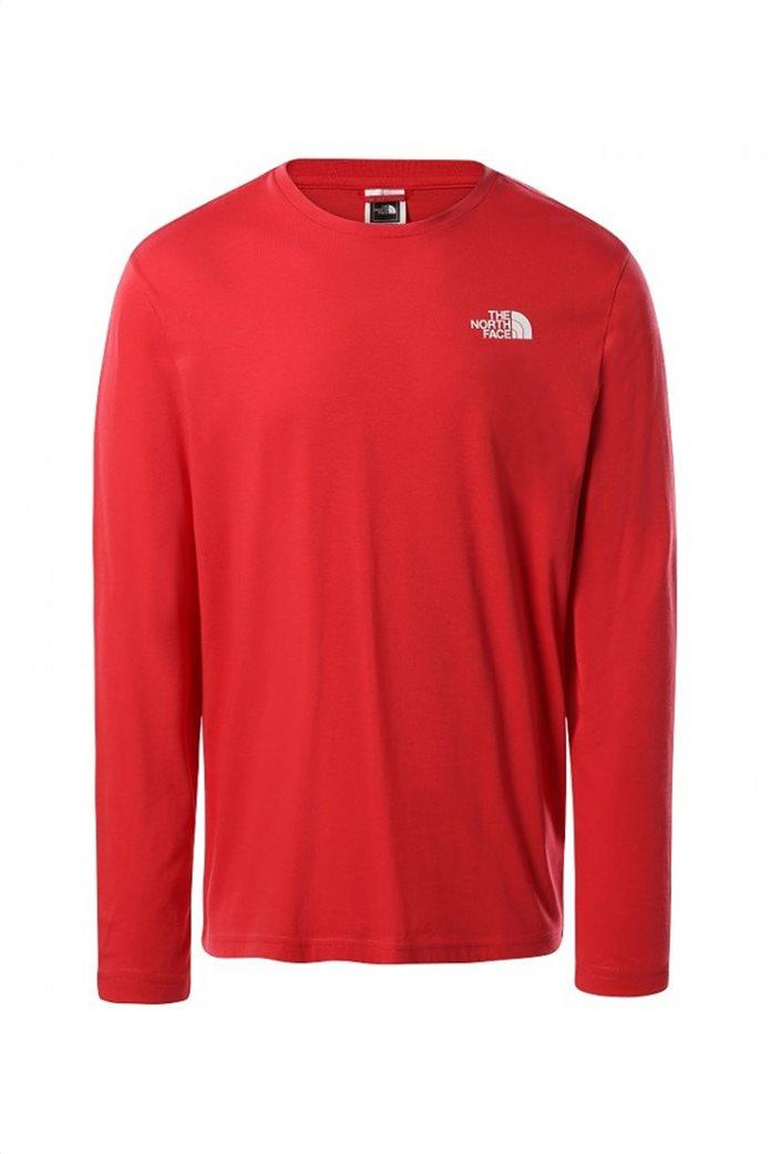 The North Face ανδρική μπλούζα με oversized logo print στο πίσω μέρος 0