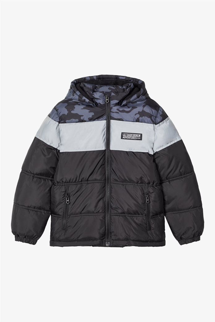 Name It παιδικό puffer jacket με camouflage print 0