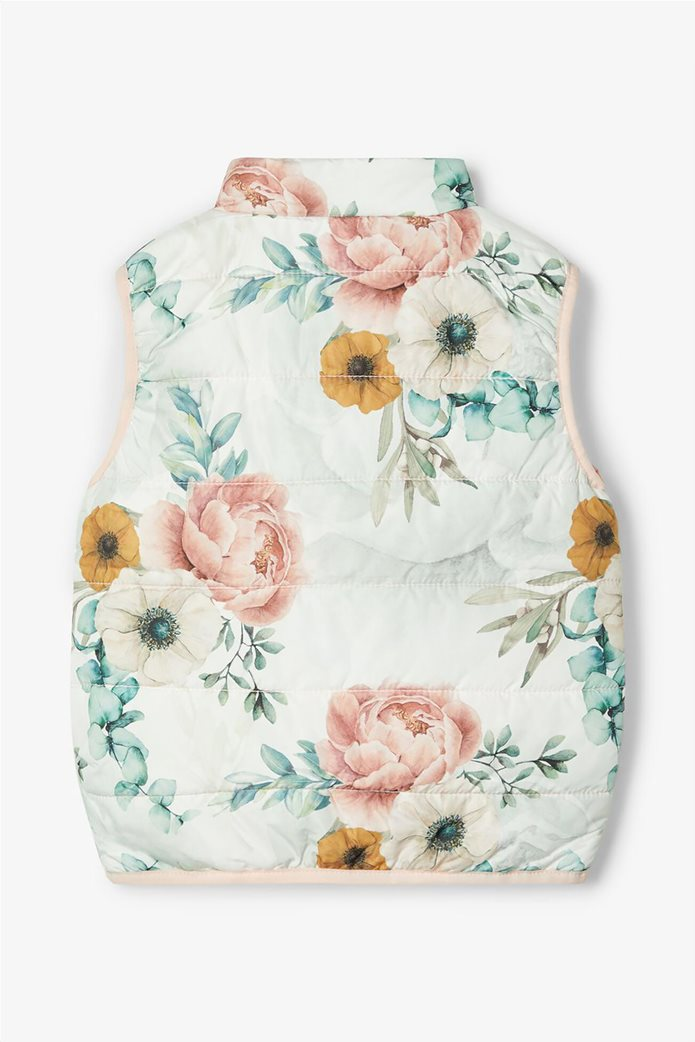 Name It παιδικό αμάνικο μπουφάν με all-over floral print 1