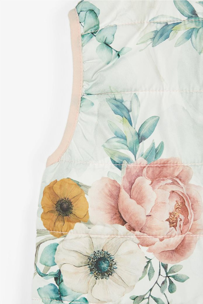 Name It παιδικό αμάνικο μπουφάν με all-over floral print 3