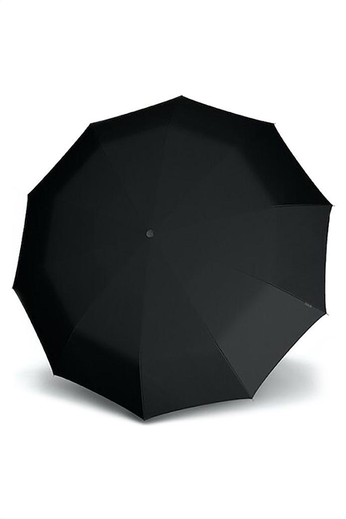 Knirps ομπρέλα Stick με ξύλινη λαβή μαύρη 1