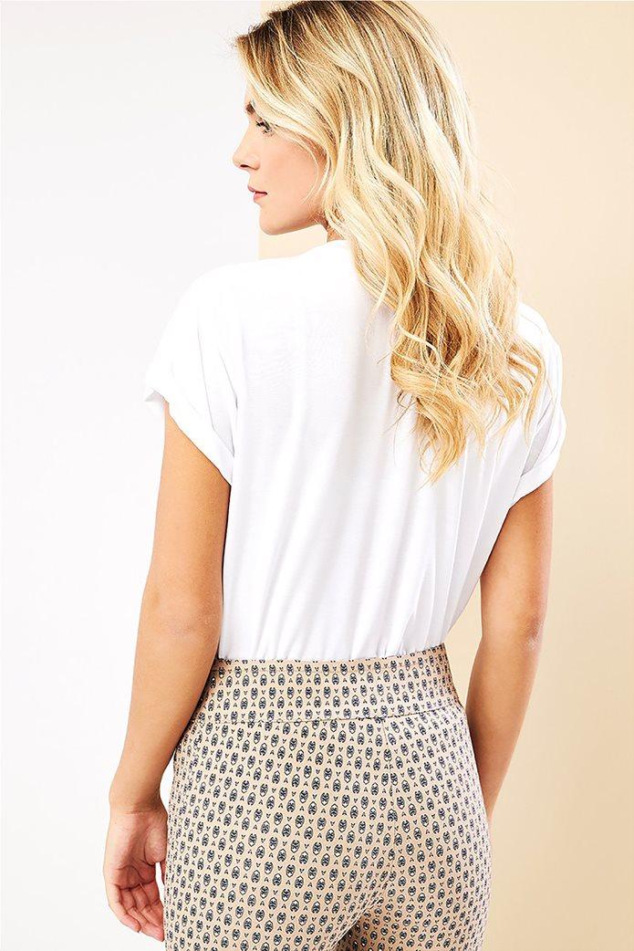 Forel γυναικείο T-shirt με lettering και στρας Λευκό 3