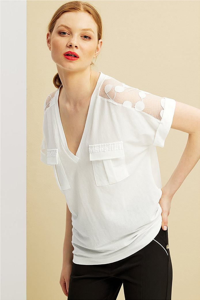 Forel γυναικεία μπλούζα με πουά ανάγλυφα σχέδια 0