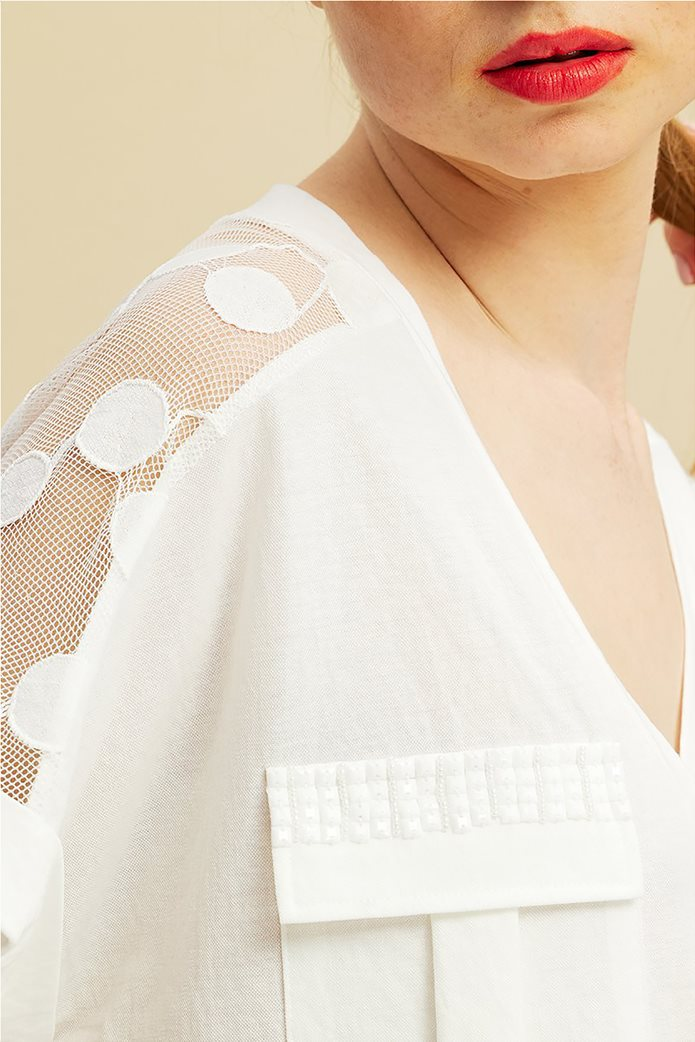 Forel γυναικεία μπλούζα με πουά ανάγλυφα σχέδια 1