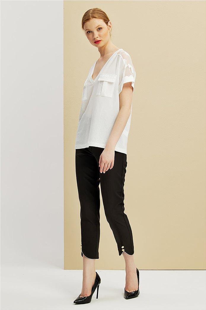 Forel γυναικεία μπλούζα με πουά ανάγλυφα σχέδια 2