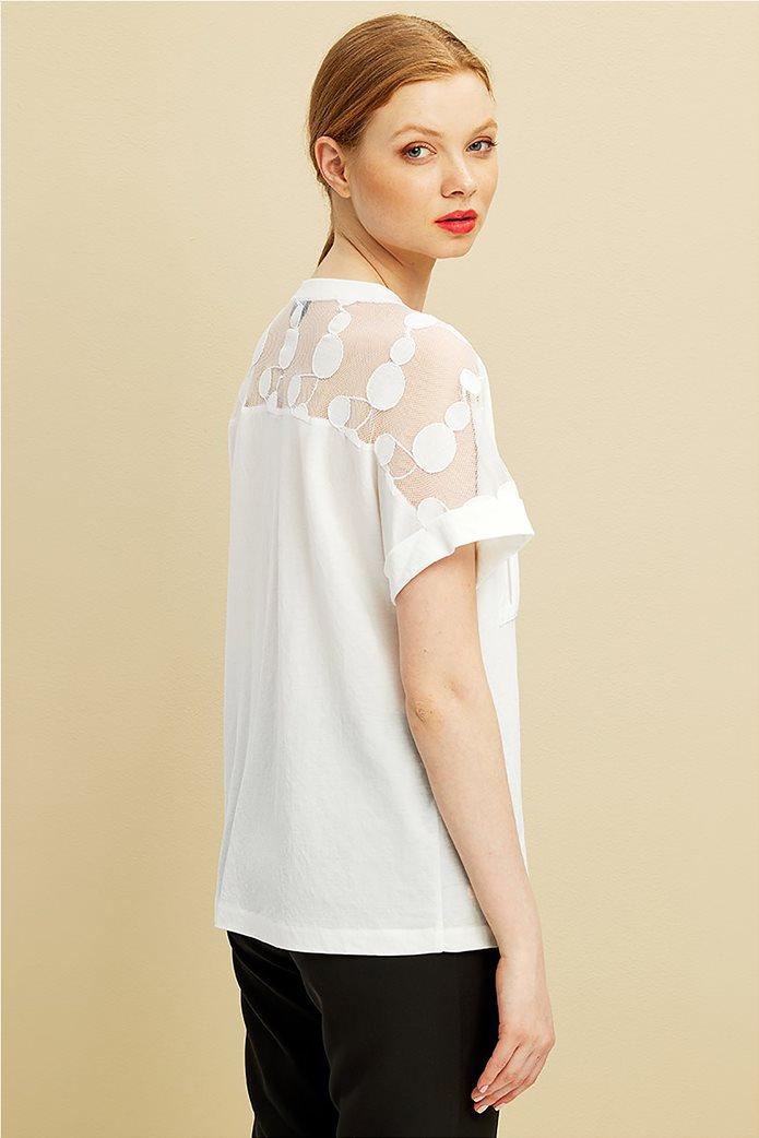 Forel γυναικεία μπλούζα με πουά ανάγλυφα σχέδια 3