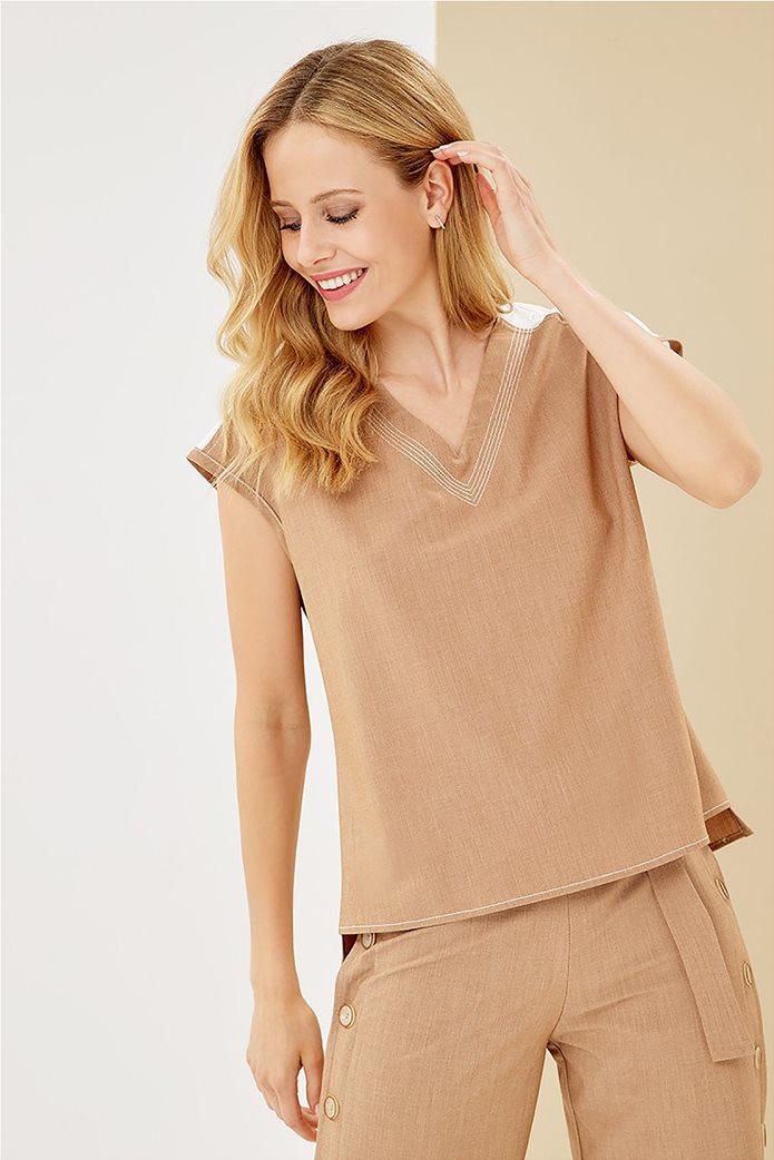 Forel γυναικεία μπλούζα με λεπτομέρεια στον ώμο 0