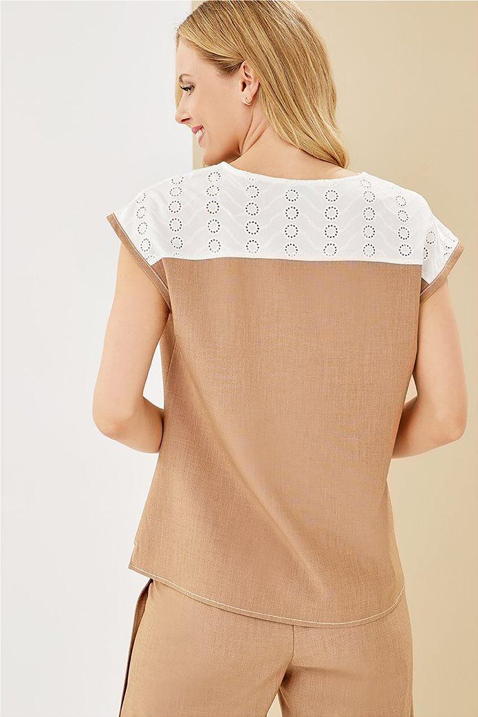 Forel γυναικεία μπλούζα με λεπτομέρεια στον ώμο 2