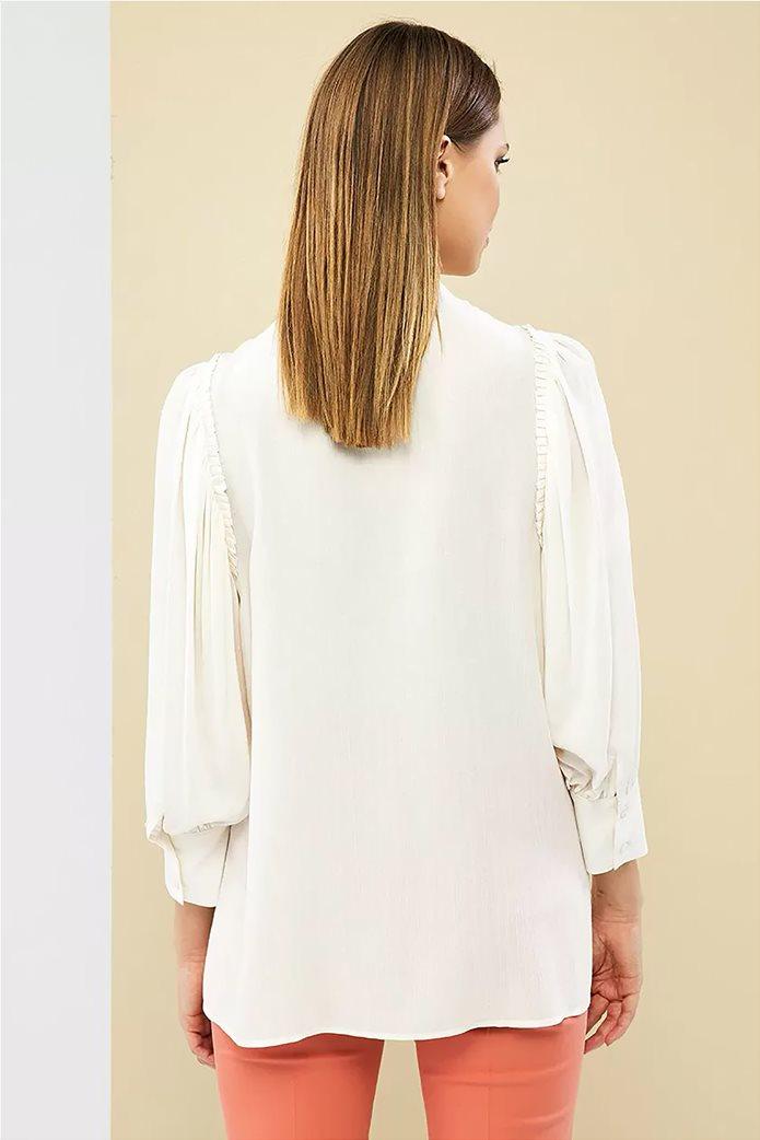 Forel γυναικείο πουκάμισο με μάο γιακά 3