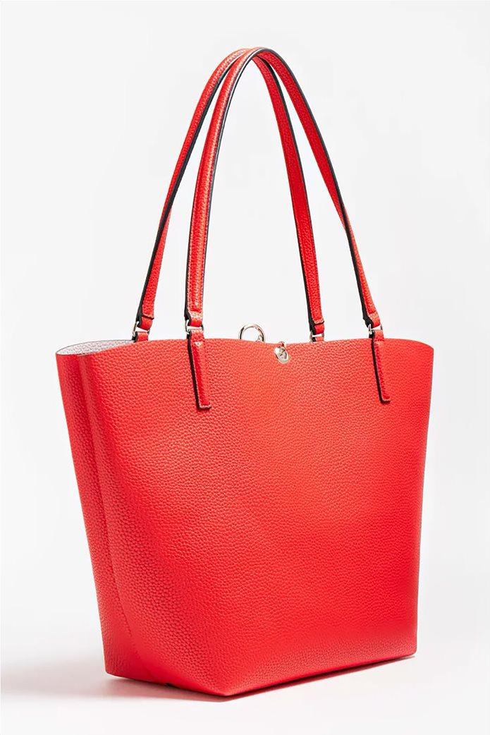Guess γυναικεία τσάντα ώμου με μεταλλικό λογότυπο ''Alby'' 3
