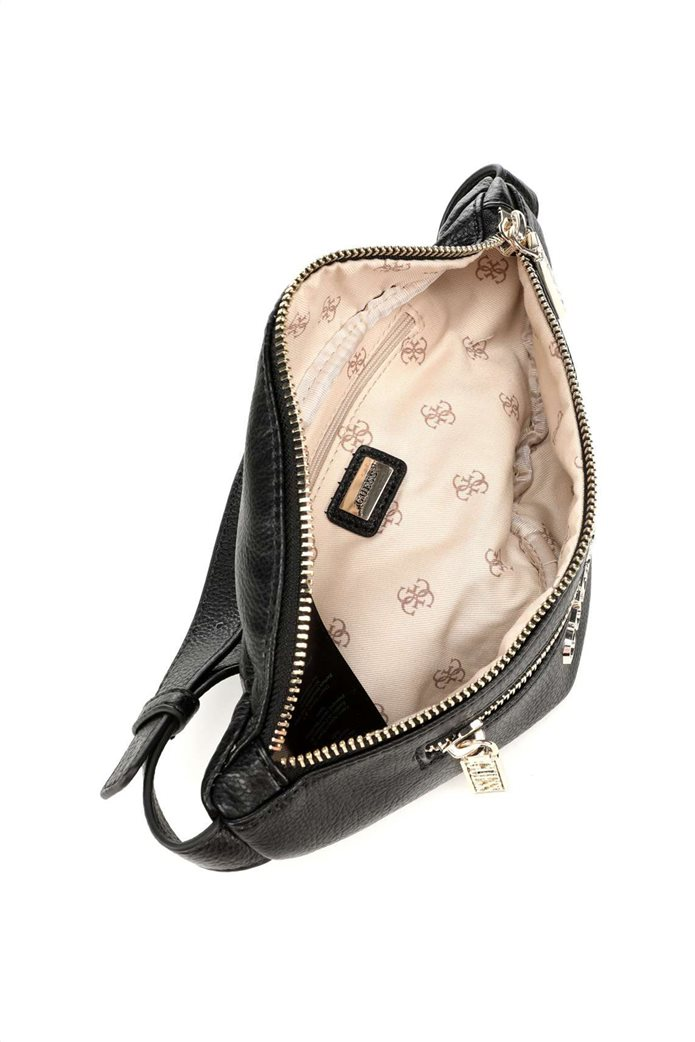 Guess γυναικείο belt bag με μεταλλικό λογότυπο ''Manhattan'' 2