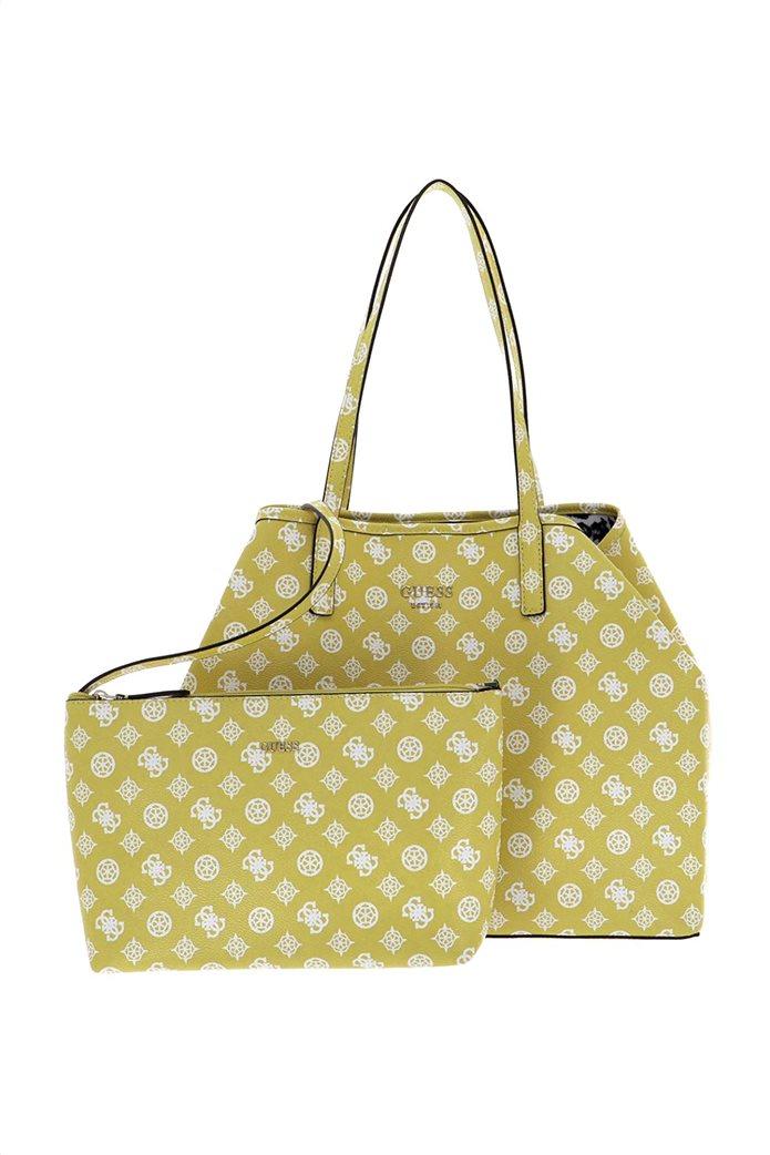 Guess γυναικεία τσάντα ώμου με all-over logo print ''Vikky'' 0
