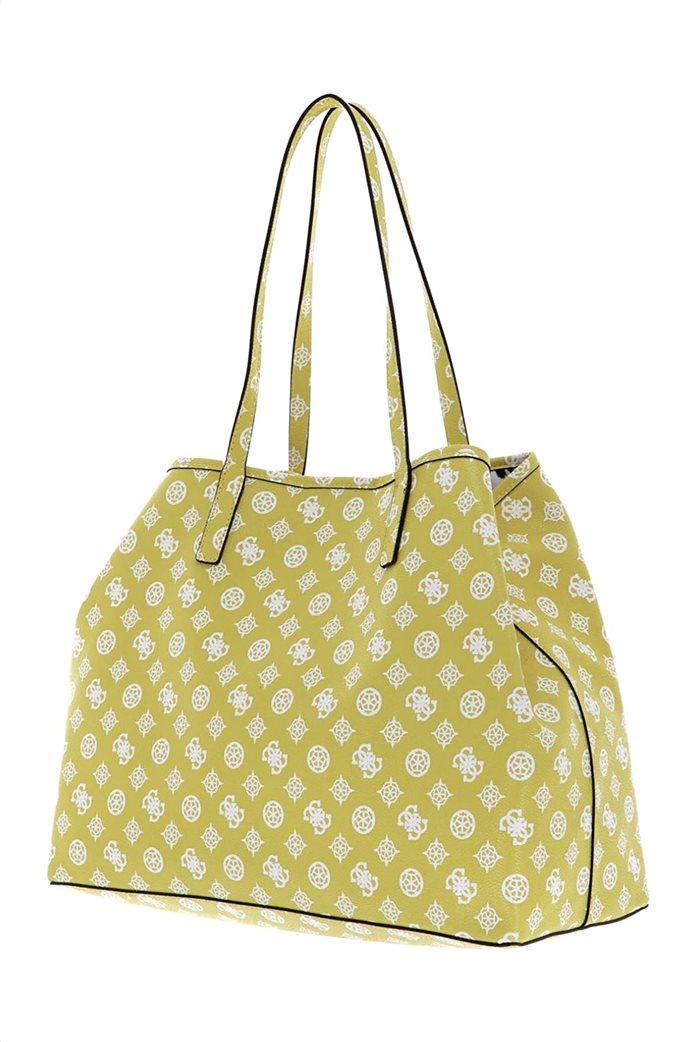 Guess γυναικεία τσάντα ώμου με all-over logo print ''Vikky'' 2