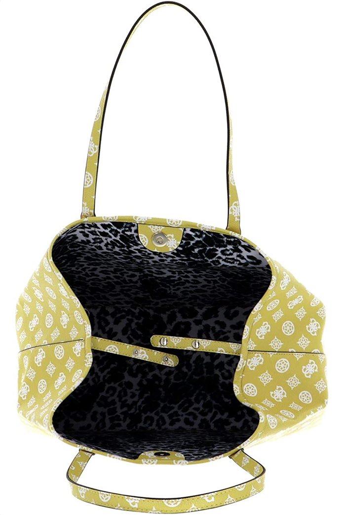 Guess γυναικεία τσάντα ώμου με all-over logo print ''Vikky'' 3