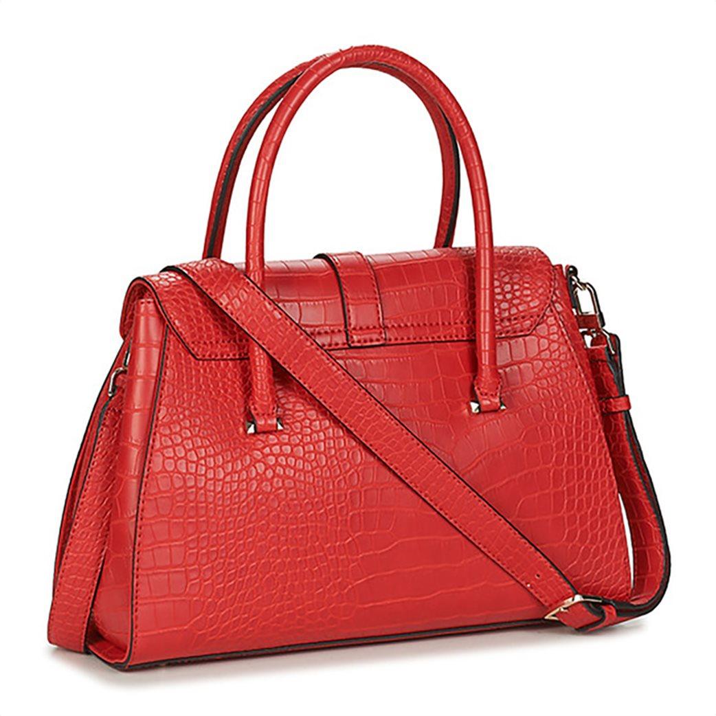 Guess γυναικεία τσάντα χειρός με croco print και διακοσμητικό μπρελόκ 1
