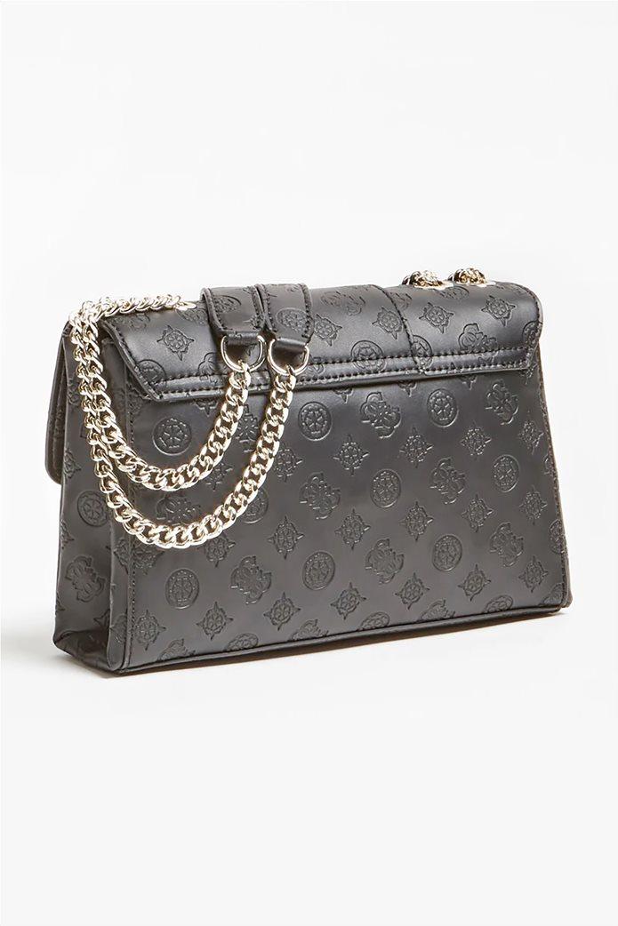 "Guess γυναικεία τσάντα ώμου με αλυσίδα και ανάγλυφο logo ""Emilia"" 2"