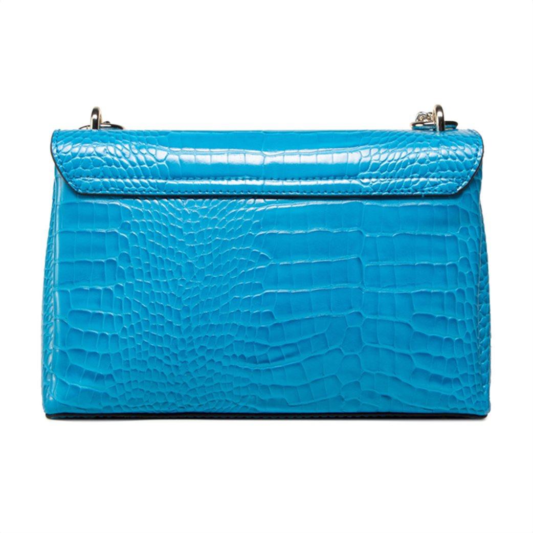 "Guess γυναικεία τσάντα ώμου croco με αλυσίδα ""Carabel"" 2"