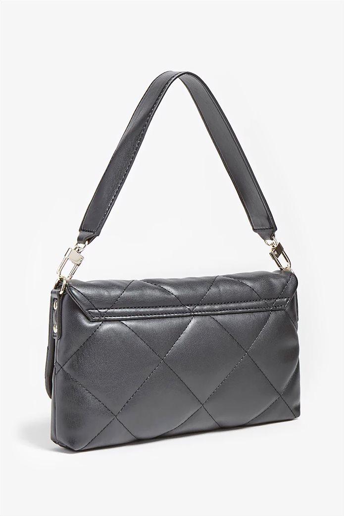 """Guess γυναικεία τσάντα ώμου καπιτονέ με μεταλλικό λογότυπο """"Brightside"""" Μαύρο 2"""